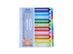 Chia file 10 màu giấy (nhựa)